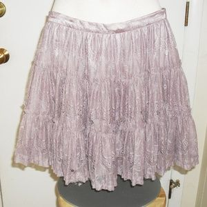 NWOT Rose colored Lace skirt. Size M/M